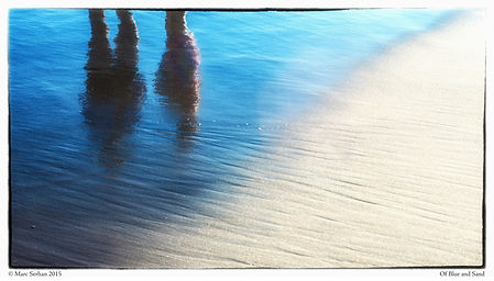 Reflections, Shore, tide, beach, Water an Sand