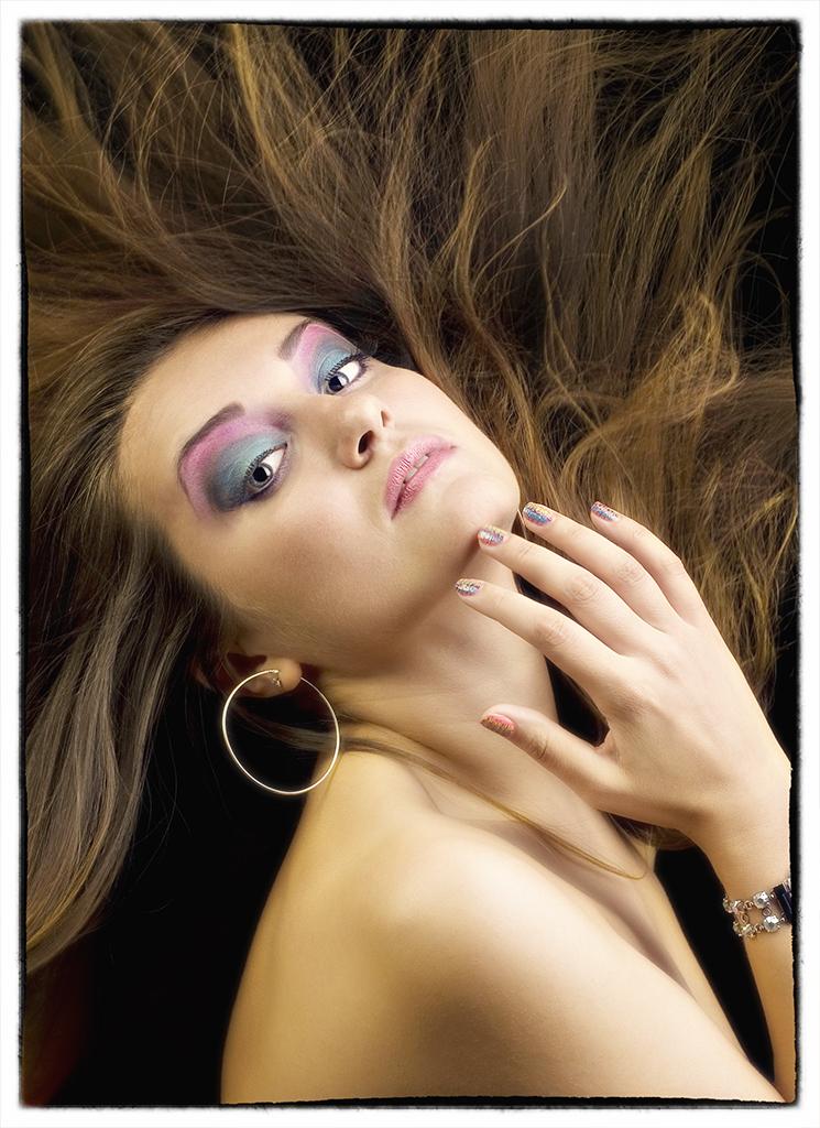 Natalia Beauty Shot flying hair
