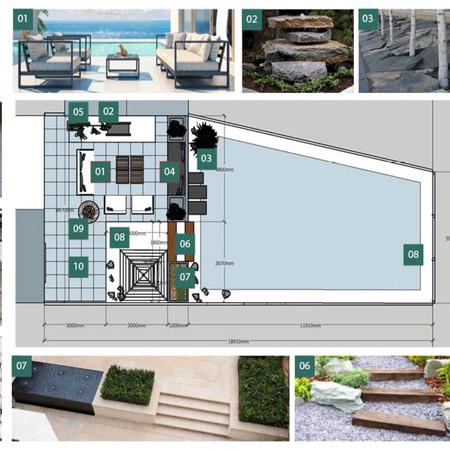 Garden Design - FF&E Mood Board