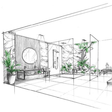 Bathroom Design - Sketch