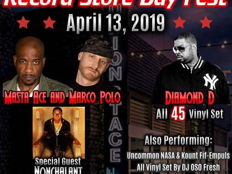 Nonchalant Live Record Store Day Fest w/ Diamond D. & Masta Ace & Marco Polo