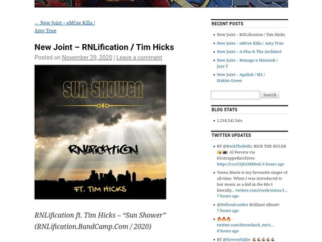 RNLification continues his press with the new single Sun Shower as featured in Old To The New