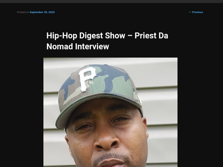 Hip Hop Digest Shows Sits Down With Priest Da Nomad