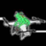 white outline Frog Drone Logo Design png