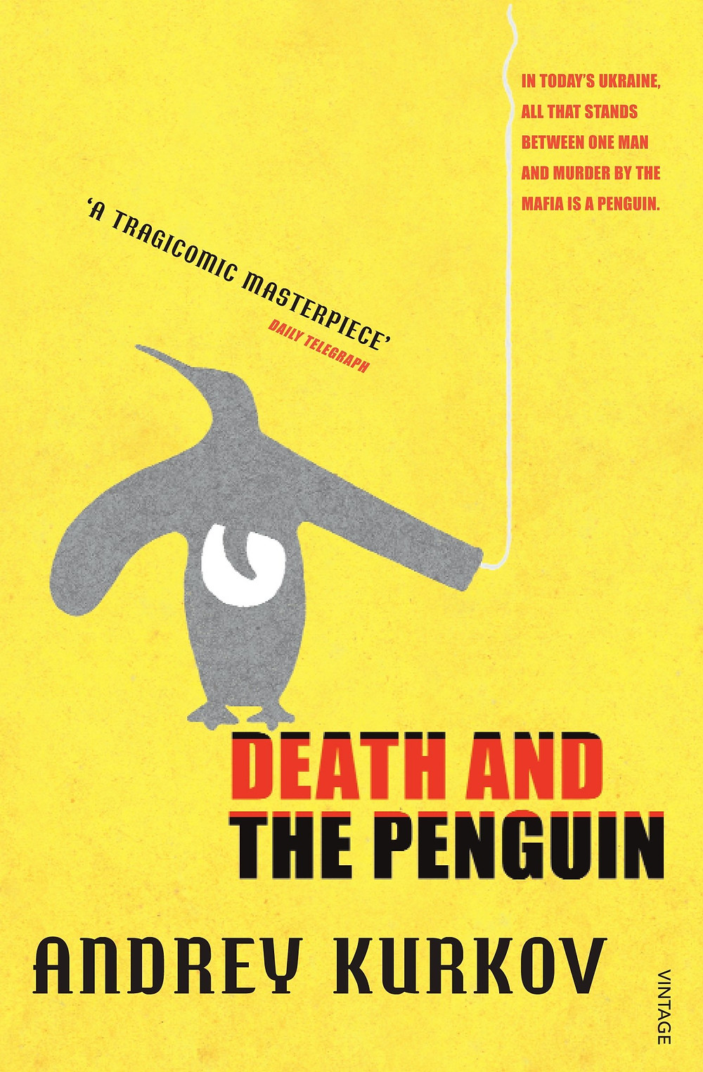 Book cover of Death and the Penguin by Andrey Kurkov.