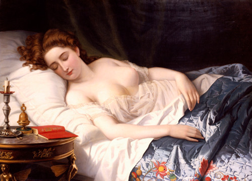 A painting of Imogen by Wilhelm Ferdinand Souchon