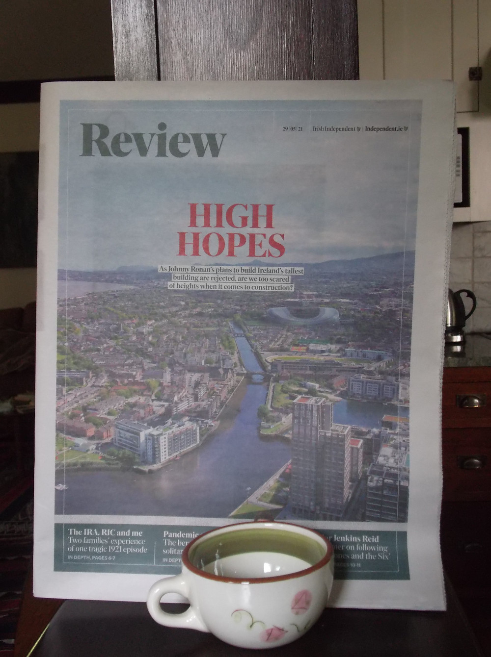 The Irish Independent Review with the words 'High Hopes' on the cover