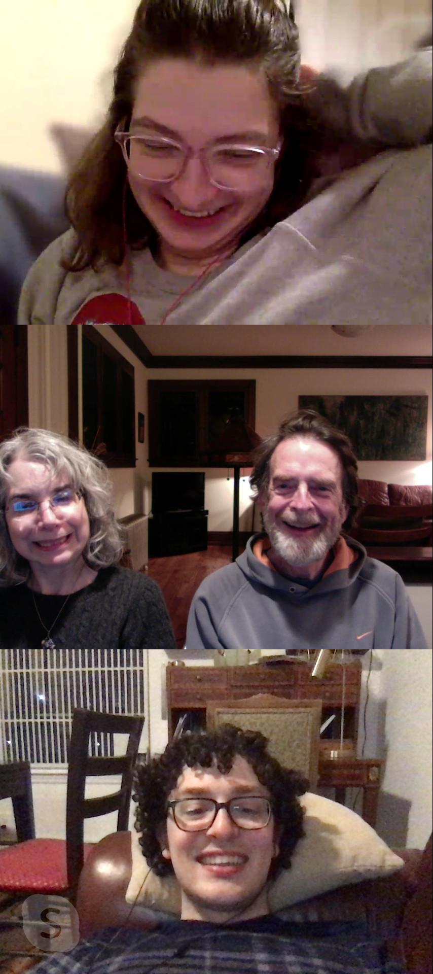 A family skype