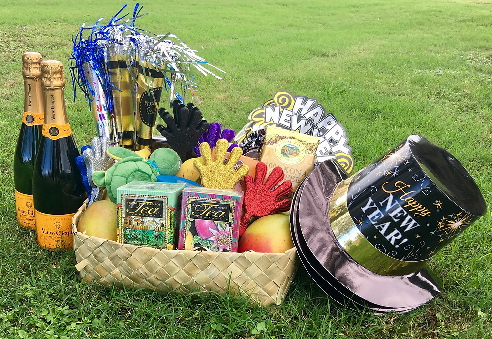 New Year Gift Basket Oahu, Hawaii