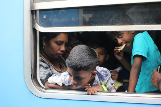 Sri Lankan family on train 2018