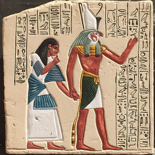 Horus leading a man into the afterlife