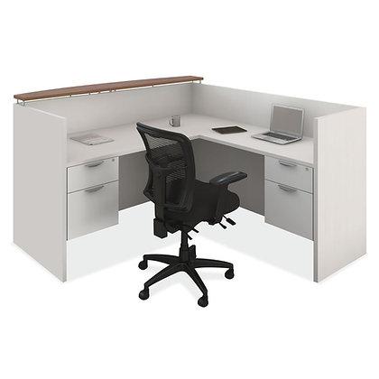 "L Shaped Reception Desk   72"" x 78"""