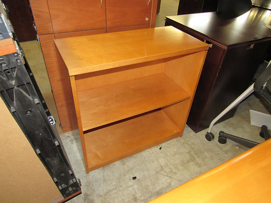 #531, Pre-Owned 2-Tiered Wood Bookcase