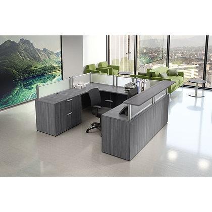 """U-Shaped Reception Desk   101""""W x 83""""D"""