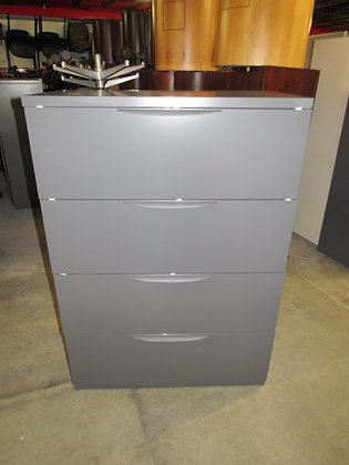 """#538, Pre-Owned Haworth 4 Drawer Lateral File 