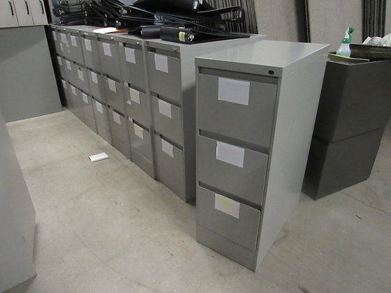 #511, Pre-Owned Steelcase 3-Drawer Vertical File Cabinet