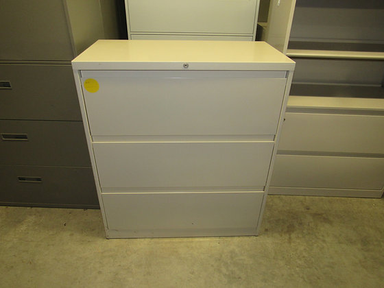 """#535, Pre-Owned Steelcase 3 Drawer Lateral File Cabinet 