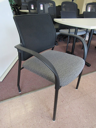 Multi-Purpose Stacking Side Chair on Glides w/Mesh Back