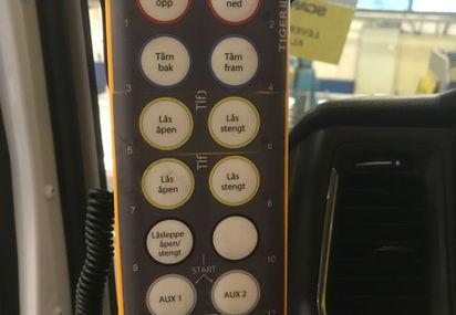 Tablå radiostyring til krokløft