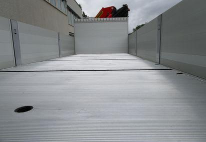 Rillet aluminiums platt, medium høyde sidelemmer i aluminium