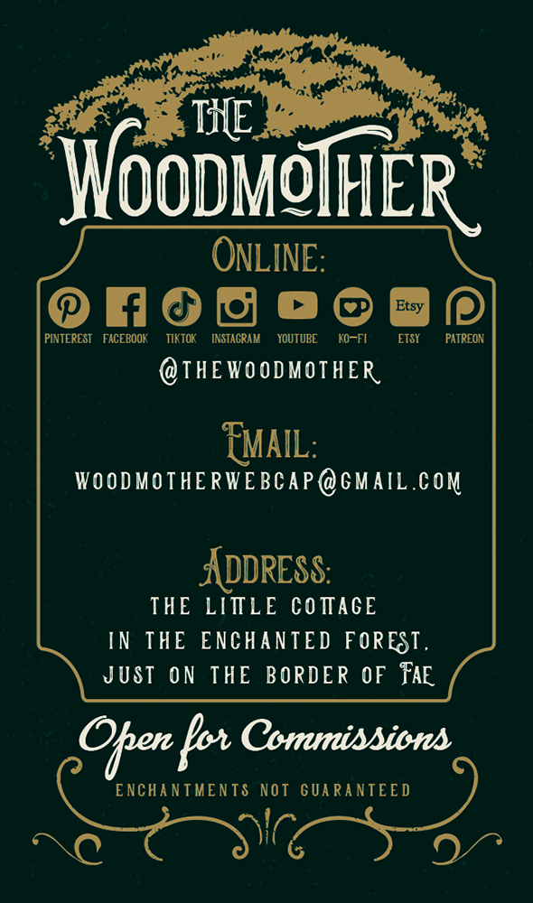 The Woodmother Business Card Back