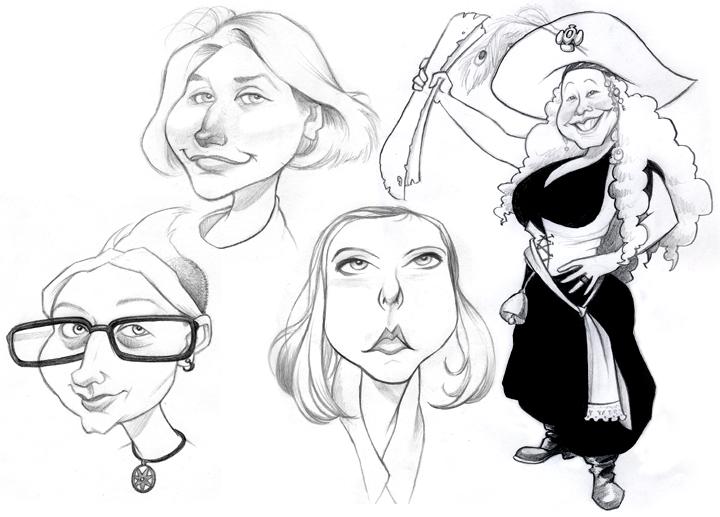 Ballpoint Caricatures