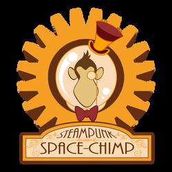 Steampunk Space Chimp Logo