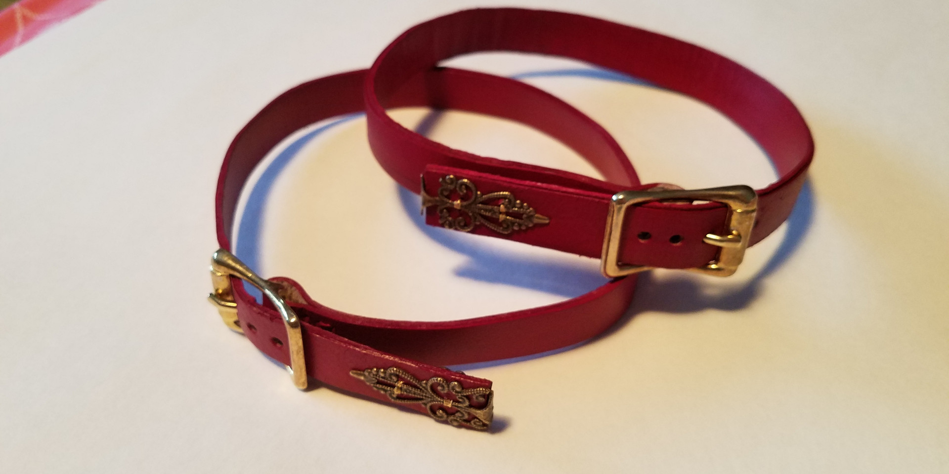 Red Leather Garters
