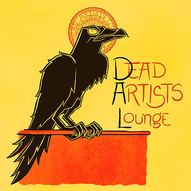 Dead Artists Lounge logo raven
