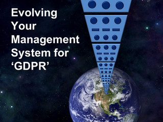 Evolving Your Management System for GDPR