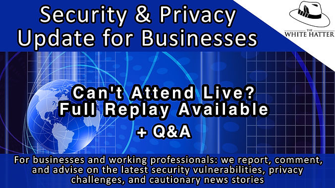 Security and Privacy Update for Businesses