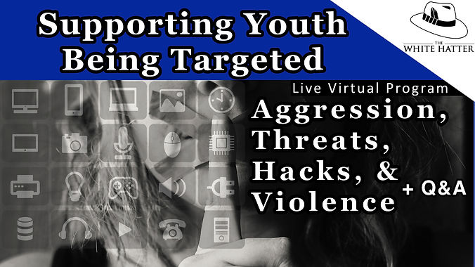 Supporting Youth Being Targeted by Aggression Cyberbullying Threats Hacks Violence