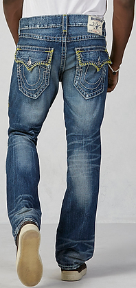 TRUE RELIGION - Hand Picked Big T Straight Jeans