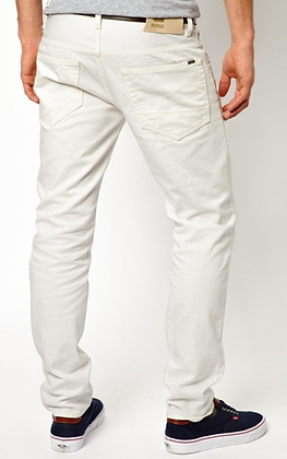 G Star Jeans - Low Tapered White Denim 3D Raw