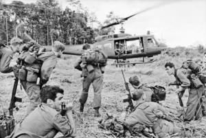 RAAF helicopters and Australian Army soldiers, Vietnam, c. 1967. Credit: RAAF