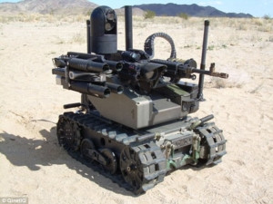 """A """"Modular Advanced Armed Robotic System"""". Credit: US Army"""