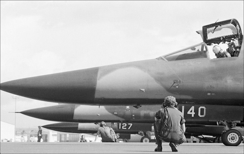 RAAF F111s on tarmac during Exercise RIMPAC 82, Bucholz Army Airfield, Hawaii in May 1982 [Image Credit: Royal Australian Air Force]