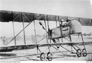 A Mesopotamian Half Flight Farman Pusher, similar to that used by Thomas White in 1915. [Image Credit: Australian War Memorial}