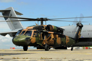 Australian Defence Force assets continue to operate from Jackson's International, Port Moresby [Image credit: RAAF]