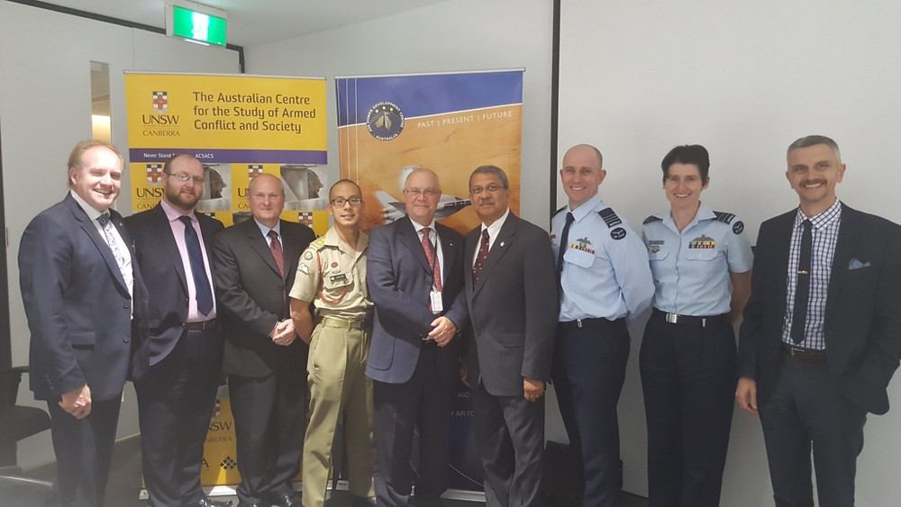 Presenters at the second Sir James Rowland Seminar, 05 April 2017 [Image credit: UNSW Canberra - Australian Centre for the Study of Armed Conflict and Society]