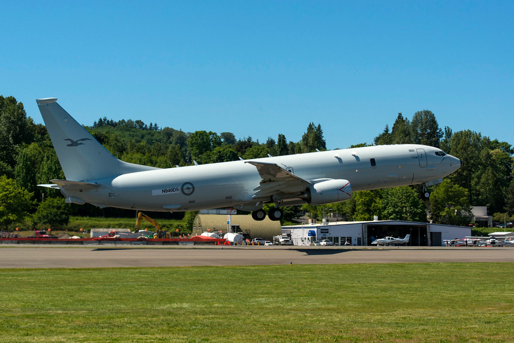 The RAAF's first P-8 will arrive in Australia this month. [Image Credit: MBTPhoto 2016 via Defence Image Gallery]