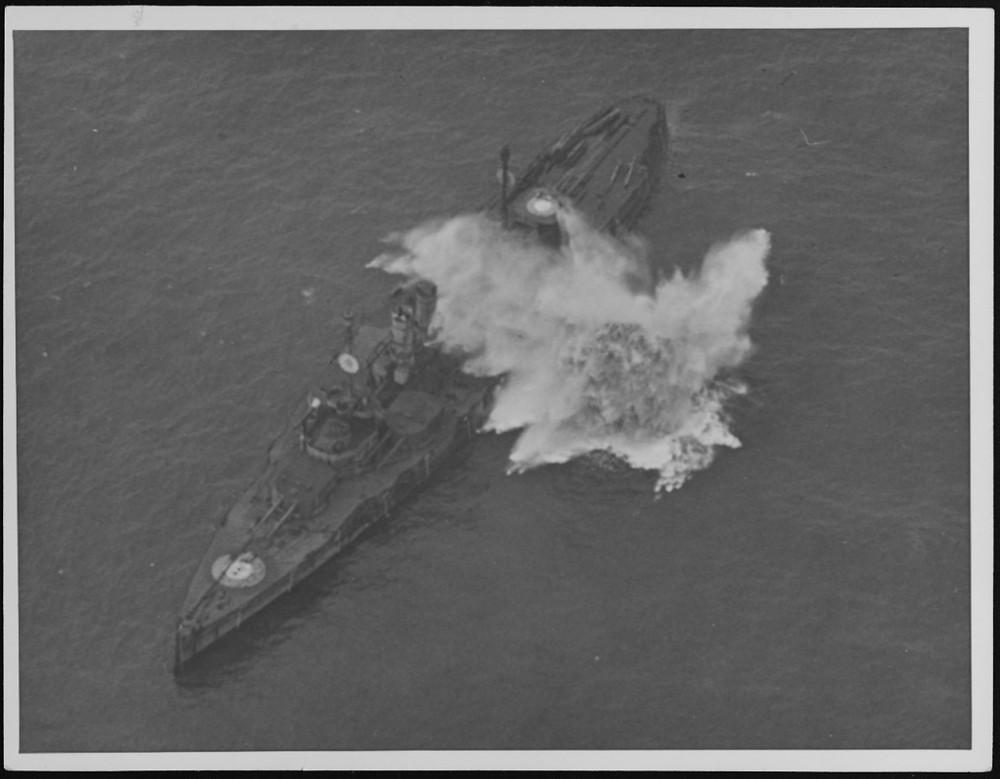 Bombing Ostfriesland [Image credit: Naval History & Heritage Command]