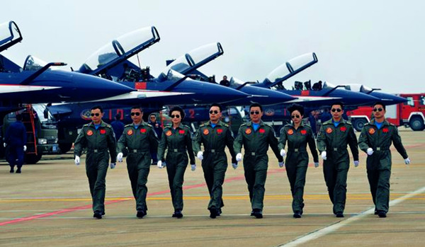 'August 1st' Aerobatic Team, People's Liberation Army Air Force [Image credit: cityofzhuhai.com]