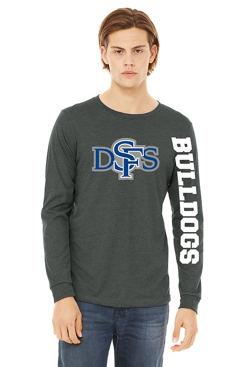 Adult Long Sleeve T-Shirt - Bulldog with Mask