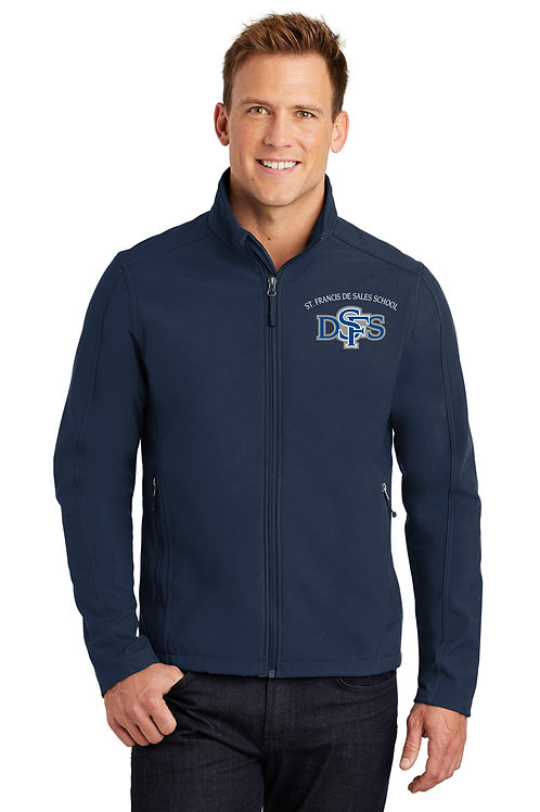 Men's Soft Shell Jacket, Embroidered Front