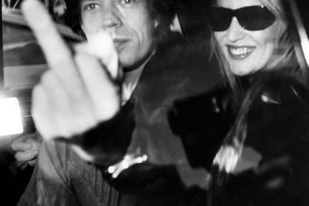 Ron GALELLA Mike Jagger & Jerry Hall 1983 Photographs, gelatin silver print on paper 50 cm x 60 cm (76x87cm encadrée) Numbered 7/15