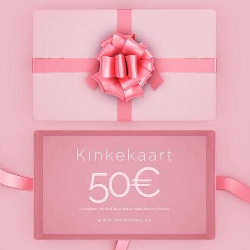 Digitaalne Kinkekaart 50€