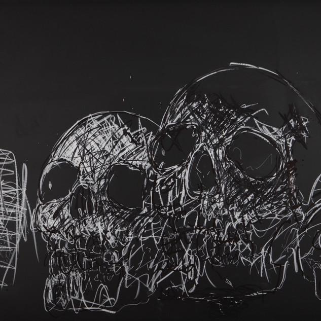 Philippe Pasqua Etude pour Crâne