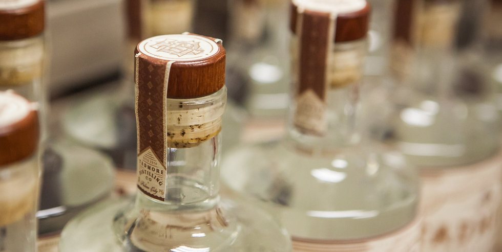 Bottles of Tadmore Distilling's craft spirits