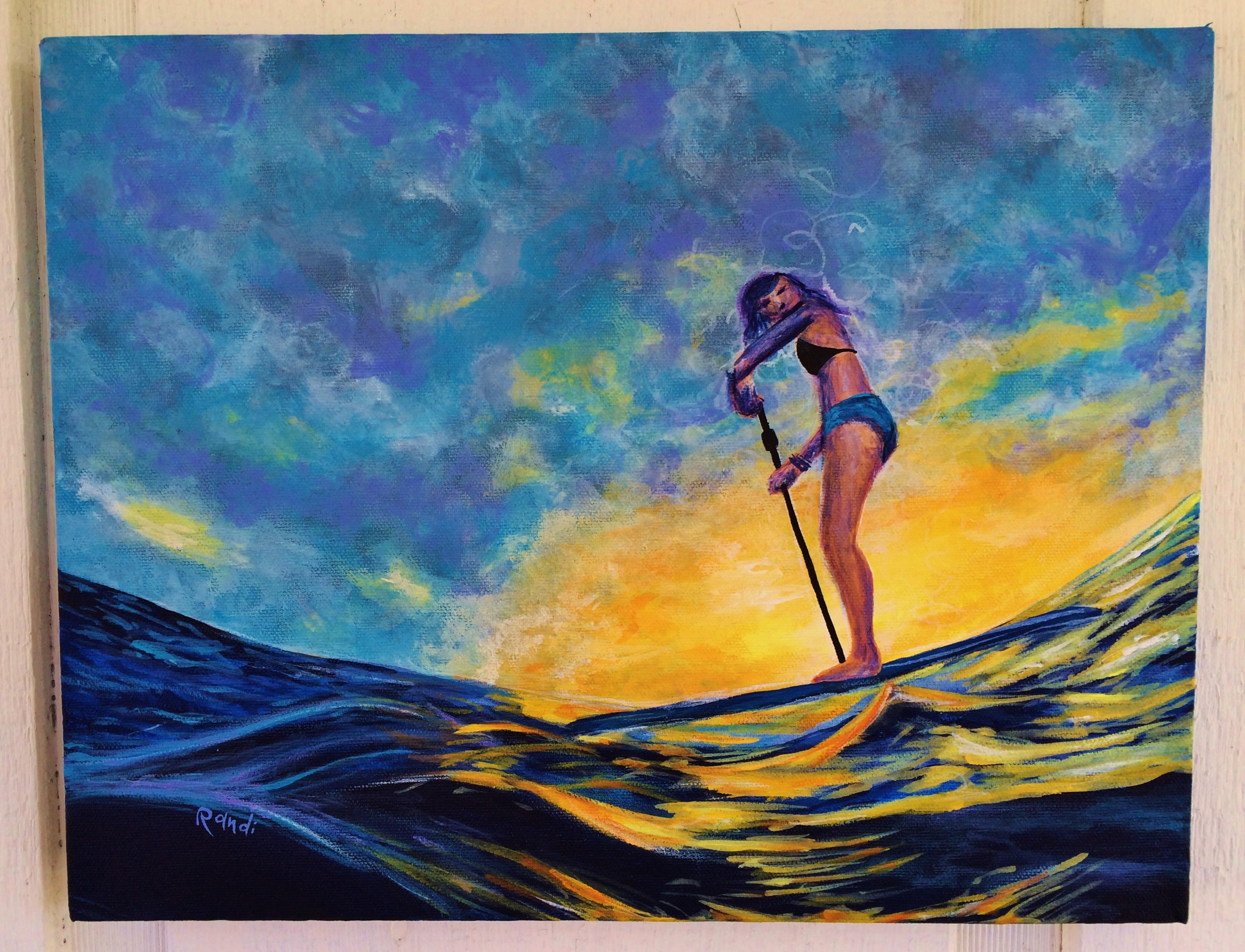 """sunset paddle"""